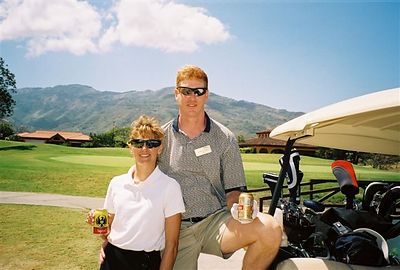 Mark and Christine Golfing